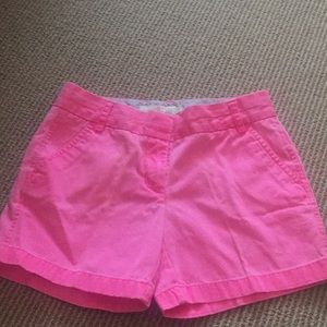 Jcrew hot pink shorts